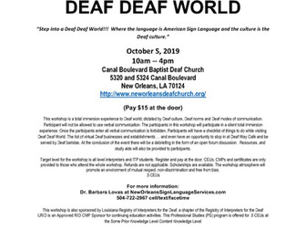 DEAF DEAF WORLD in New Orleans - October 5, 2019