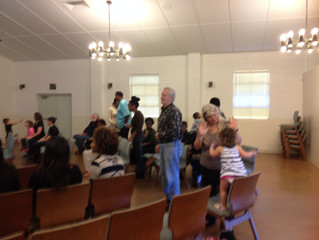 Getting ready to go back home after a great service at the Deaf Church