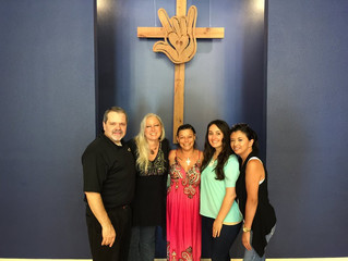 Julie was baptized at the Deaf Church on 8/23/15!!!