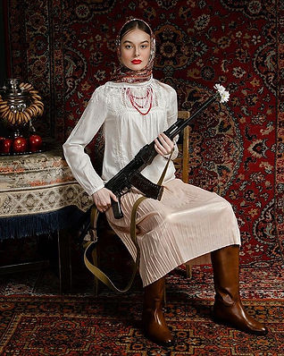 Russian woman with her beauty, and coura