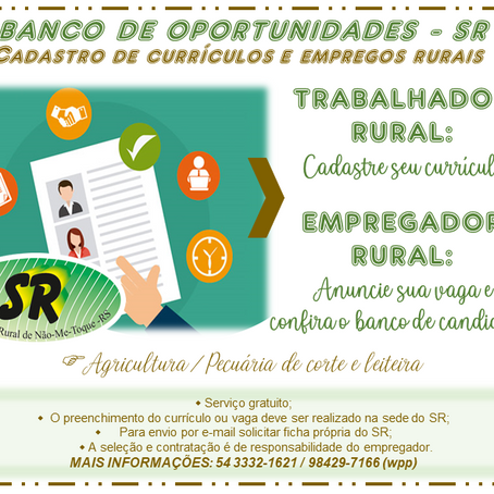 Sindicato Rural lança o Banco de Oportunidades – SR