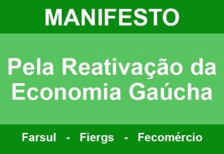COVID 19 – Entidades empresariais lançam manifesto pela reativação econômica