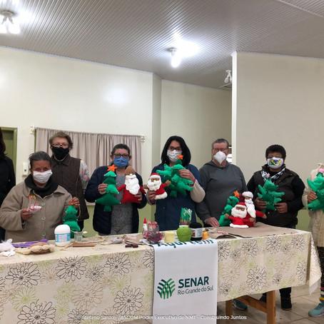 Poder Executivo e Sindicato Rural concluem curso de Artesanato - Material Reciclável em Não-Me-Toque