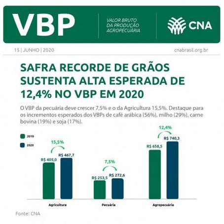 Valor Bruto da Produção alcança novo recorde e deve crescer 12,4% em 2020