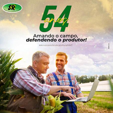 54 anos em defesa do produtor rural!