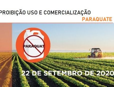 Proibição do Uso e Comercialização do Ingrediente Paraquate a partir de setembro