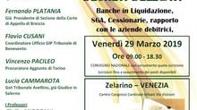 """SEGNALAZIONE CONVEGNO 29 marzo 2019 a Mestre: """"Dai contenziosi bancari e finanziari al nuovo co"""