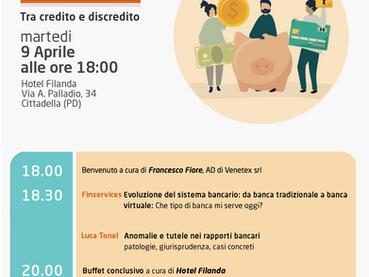 """SEGNALAZIONE EVENTO 9 aprile 2019 a Cittadella - Venetex Academy: """"Le imprese e le banche, tra"""