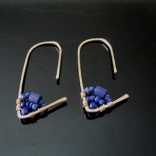 Amiti Earrings in Lapis, Short