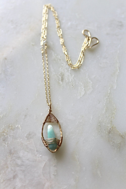 Single Petal Pendant Necklace