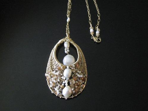Freshwater Pearl Bridal Pendant
