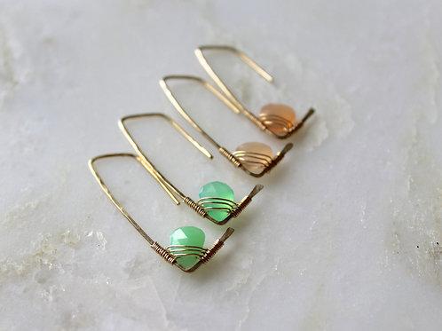 Set of 5 Amiti Short earrings in Spring Gems