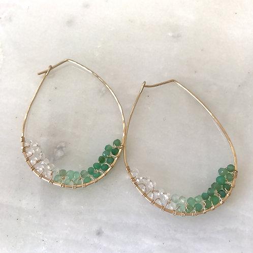 Large Hoop Cluster Earrings