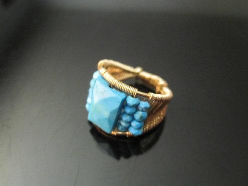 Arisha Turquoise Cocktail Ring