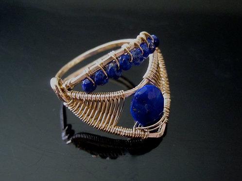 Arshia Lapis Crown Ring