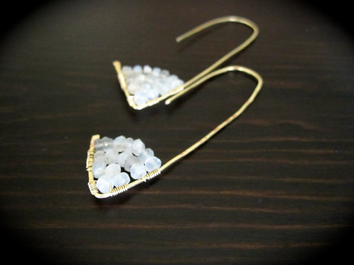 Amiti Long Earrings in Moonstone