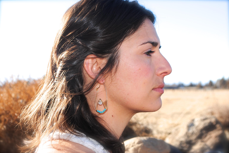 Arshia Earrings in Moonstone