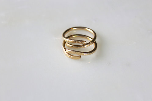 Thick Stacking Spiral Rings