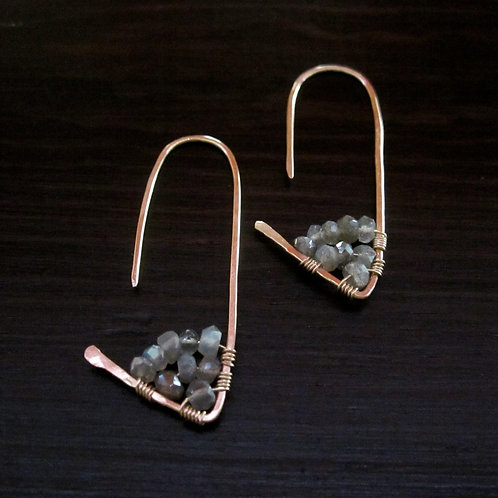 Amiti Short Earrings in Labradorite