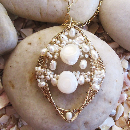 Freshwater Pearl clustered Pendant