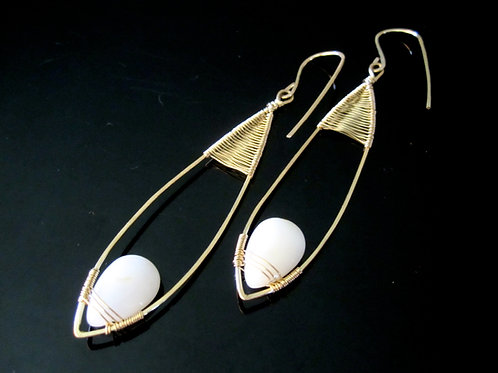 Eta Long Teardrop Earrings