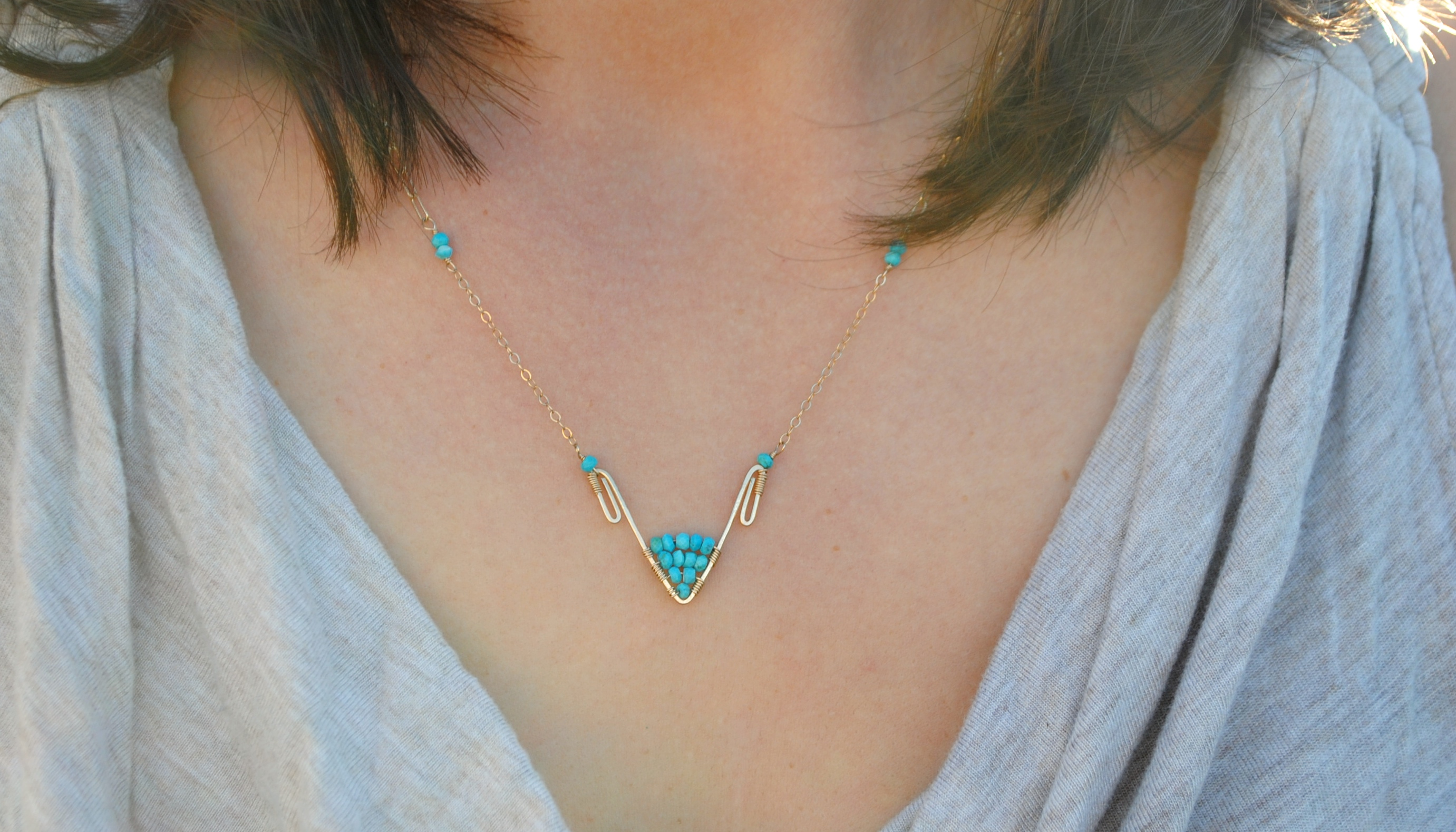Amiti Necklace in Turquoise