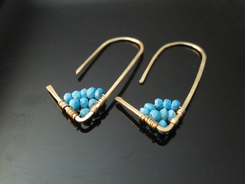 Amiti Earrings in Turquoise