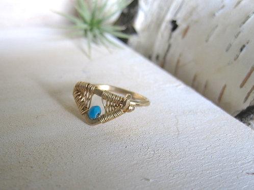 Amiti Ring in Turquoise