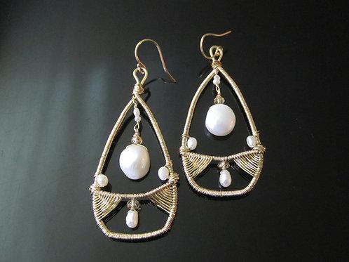 Freshwater Pearl Bridal Earrings