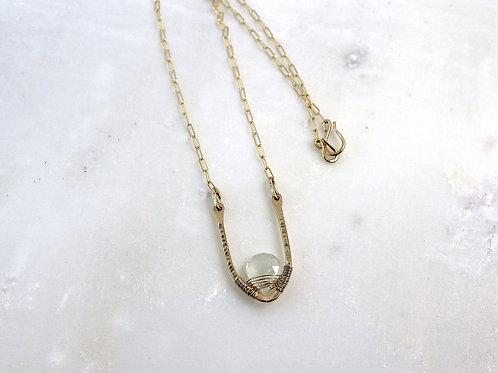 Hammered V Necklace