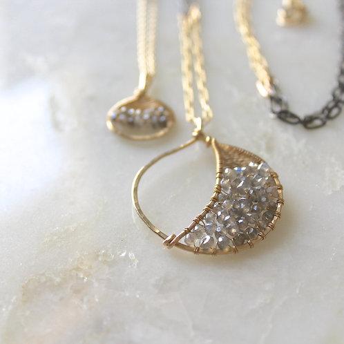 Crescent Moon Medallion Necklace