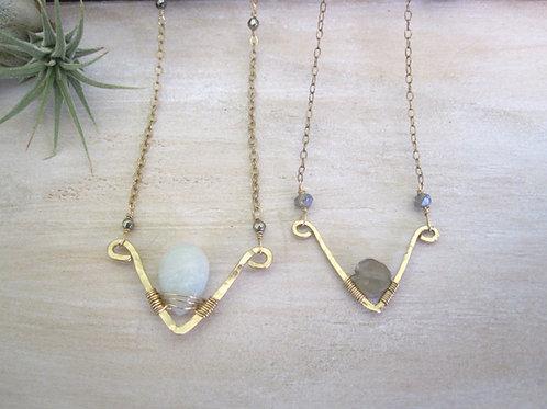 Set of 5 Chevron Necklaces