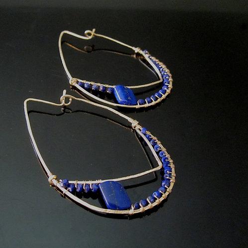 Arshia Earrings in Lapis