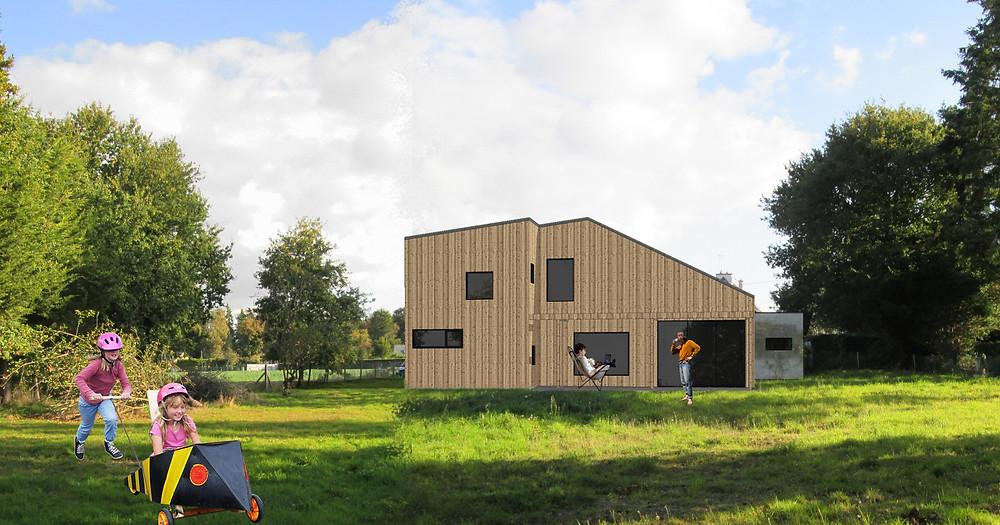 Maison familiale en bois