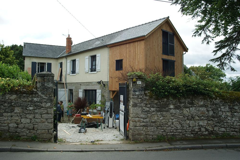 Extension d'une maison à Dinan (22)