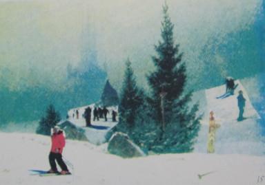 Friedrich goes skiing