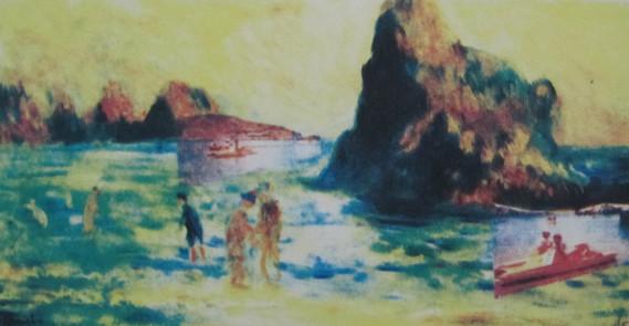 Renoir and David Go Pedalo!