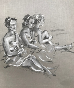 Three Cupids in Waiting