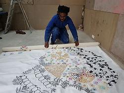 Gastineau Massamba dans son atelier©gale