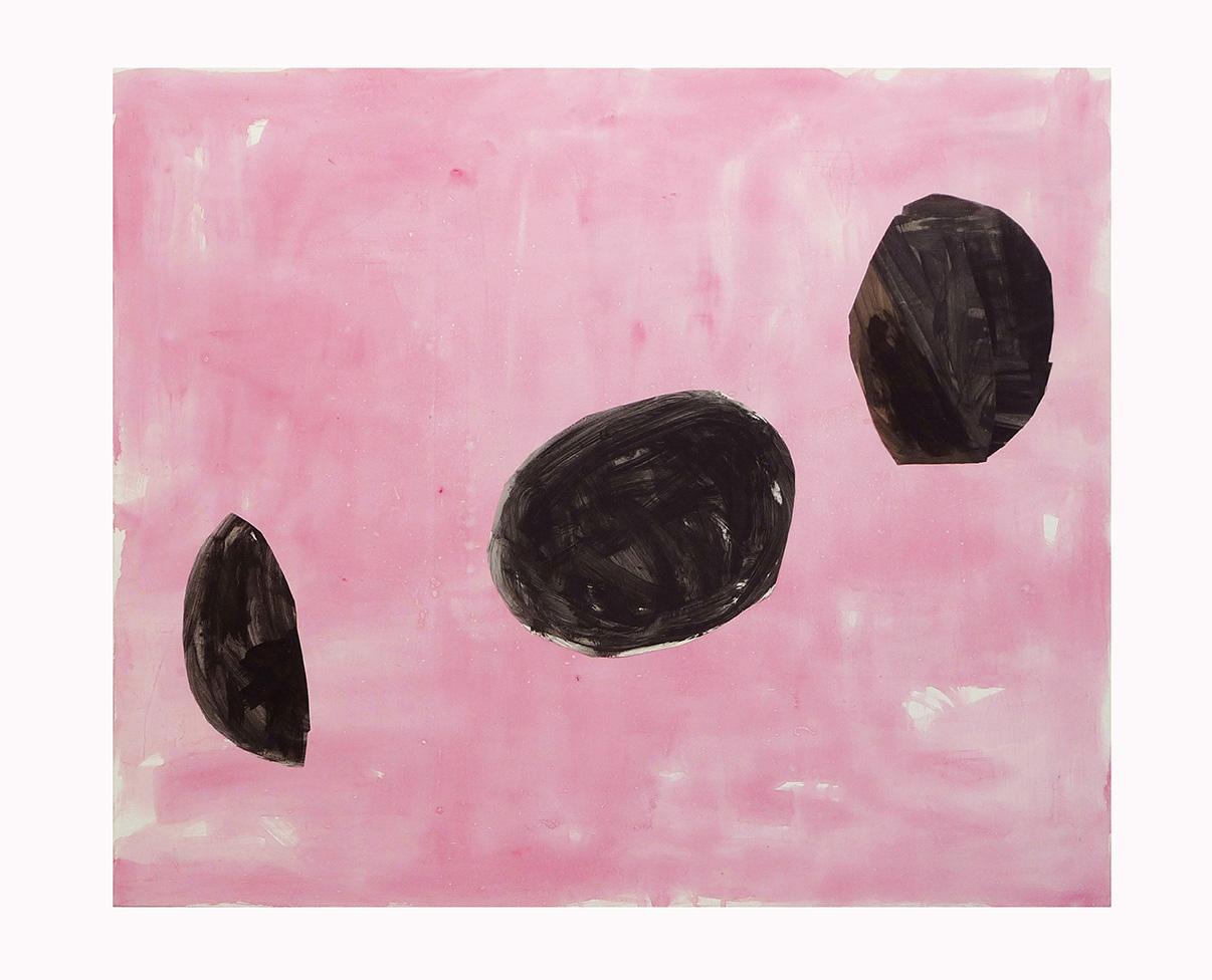 02-installations provisoires-2016,acryl et collage sur toile,160x190cm