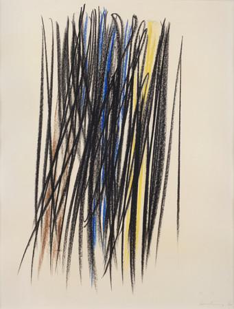 P1960-240, 1960, pastel gras sur papier.