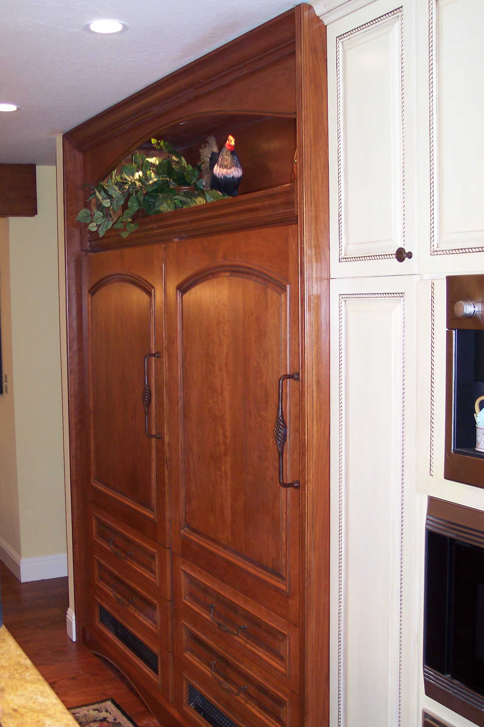 kitchen refrigerator armoire