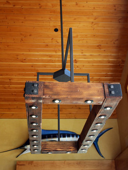 reclaimed dining fixture
