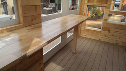 reclaimed cedar bartop