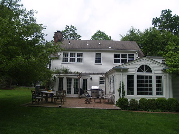 Colonial Style Existing Rear Facade