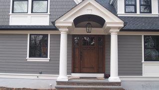 Shingle Style - Front Portico - Architect in Madison, NJ