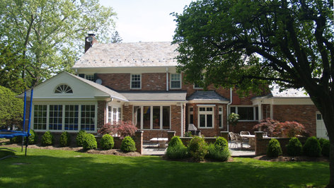 Colonial Additions & Alterations - Old Rear Facade - Architect in Madison, NJ