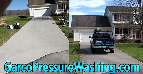 Residential Driveway Surface Cleaning 1.