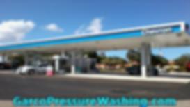 Chevron Exterior Fuel Island Cleaning Im