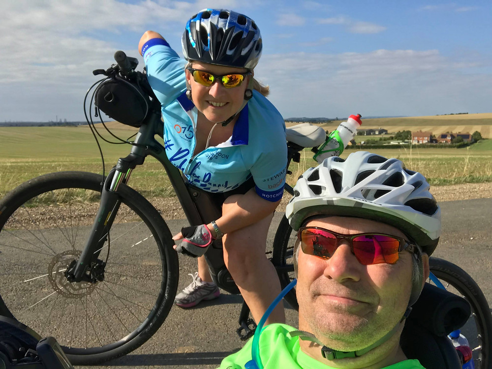 Russ and Jen cycling